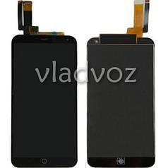 Дисплей модуль экран с сенсором для замены на Meizu M1 mini LCD черный