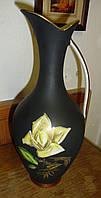 Фарфоровая черная ваза кувшин Royal Германия