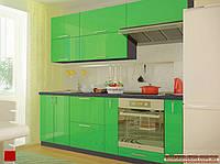 Кухня модульная Колор-mix салатовый 2200 мм MDF крашенный глянец