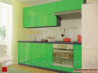 Кухня модульная MDF крашенный глянец 2200 мм салатовый