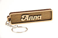 """Брелок для ключей деревянный с гравировкой """"Алла"""""""