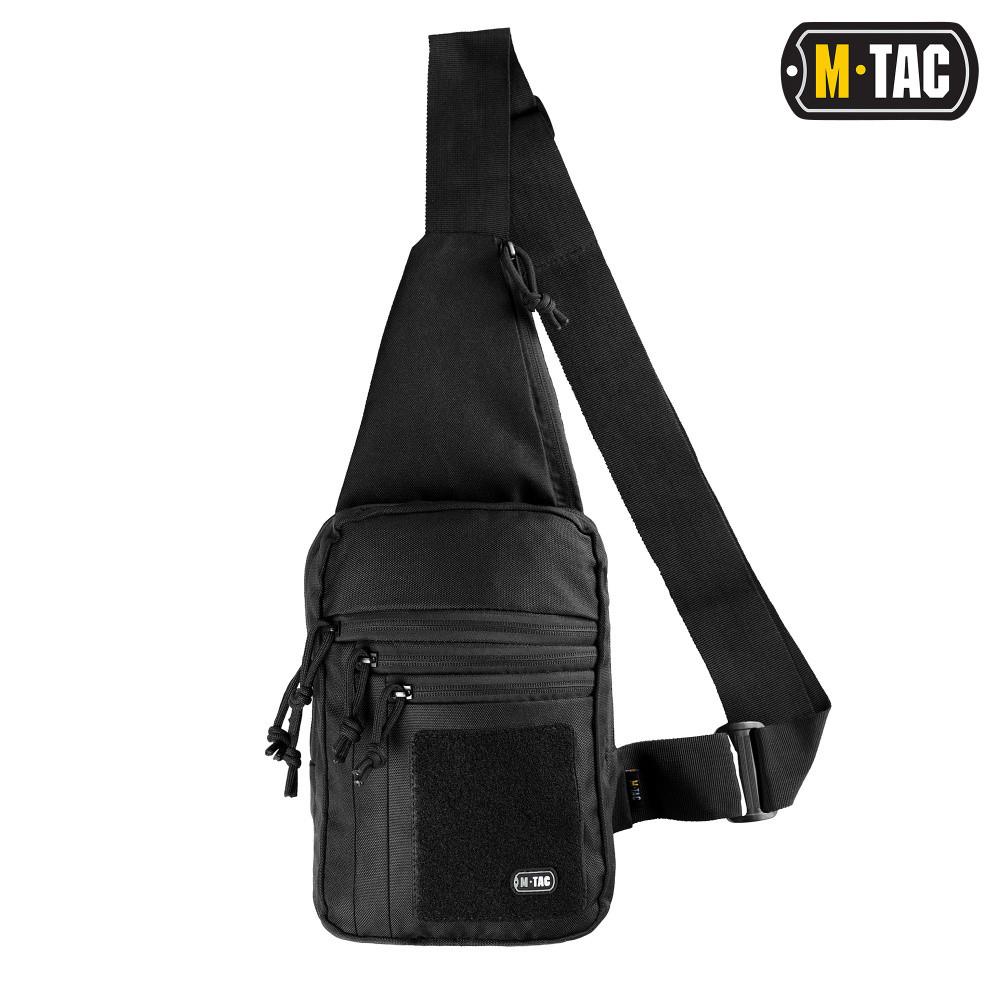 M-Tac сумка-кобура наплечная с липучкой Кордура, Черный