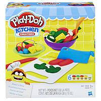 Игровой набор пластилина Play-doh Приготовь и нарежь на дольки. Оригинал Hasbro B9012