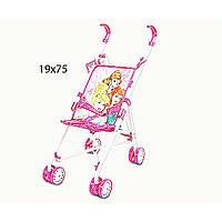 Коляска для куклы Disney - Princess D1001P (24шт/2) метал.летняя, 8 колес, крутящиеся, 20*27*54 см., в  пакете 19*75 см.