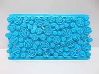 """Текстурированный коврик """"Сетка из роз"""" 15*8 см"""