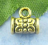 "Бейл, Держатель для кулона, "" Труба "", Античное золото, 4 mm * 7 mm"