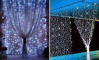 Светодиодная Гирлянда Штора Новогодняя Занавеска 180 LED Цвета в Ассортимен