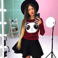 Женский стильный теплый костюм: кофта и юбка (3 цвета), фото 1