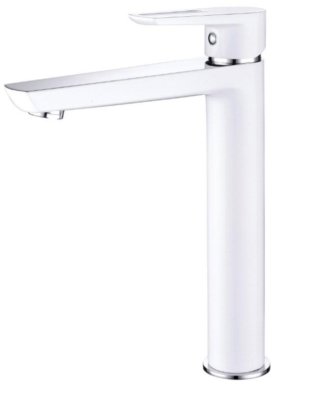 BRECLAV змішувач для раковини високий, хром/білий, 35мм