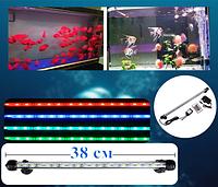 Светодиодная подсветка аквариума RGB 38см с пультом ДУ