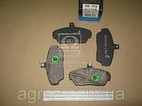Колодка тормозная ГАЗ 3302, ГАЗ 3110 перед. (компл. 4шт.) (пр-во BEST) 3302-3501090