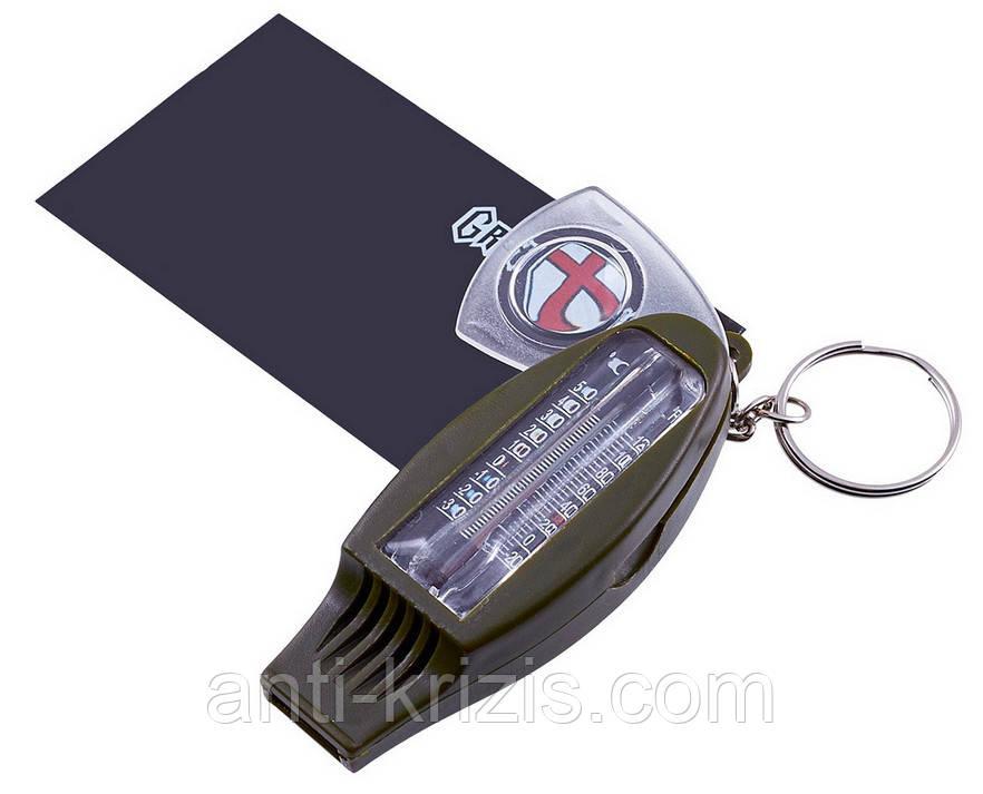 Компас с термометром, лупой и свистком TSC-41