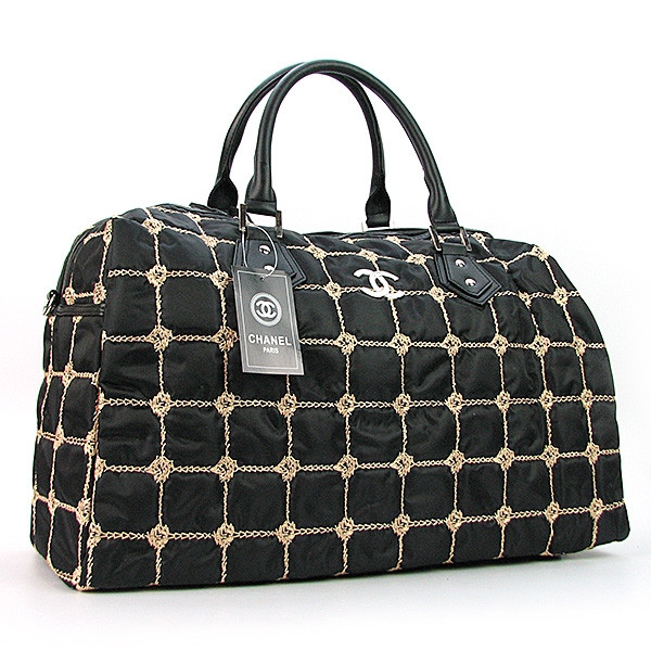 Сумка дорожная черная текстильная стеганая женская 5340 - купить по ... f472883175e