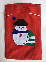Новогодний Рождественный мешочек для подарков, фото 1