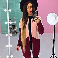 Женское стильное двухцветное пальто (расцветки), фото 1