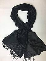 Мужской зимний шарф в полоску