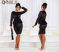 Бархатное платье батал ат1176 Дени, фото 1
