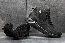 Высокие кроссовки Nike air Huarache,на меху черные,нубук 43р, фото 2