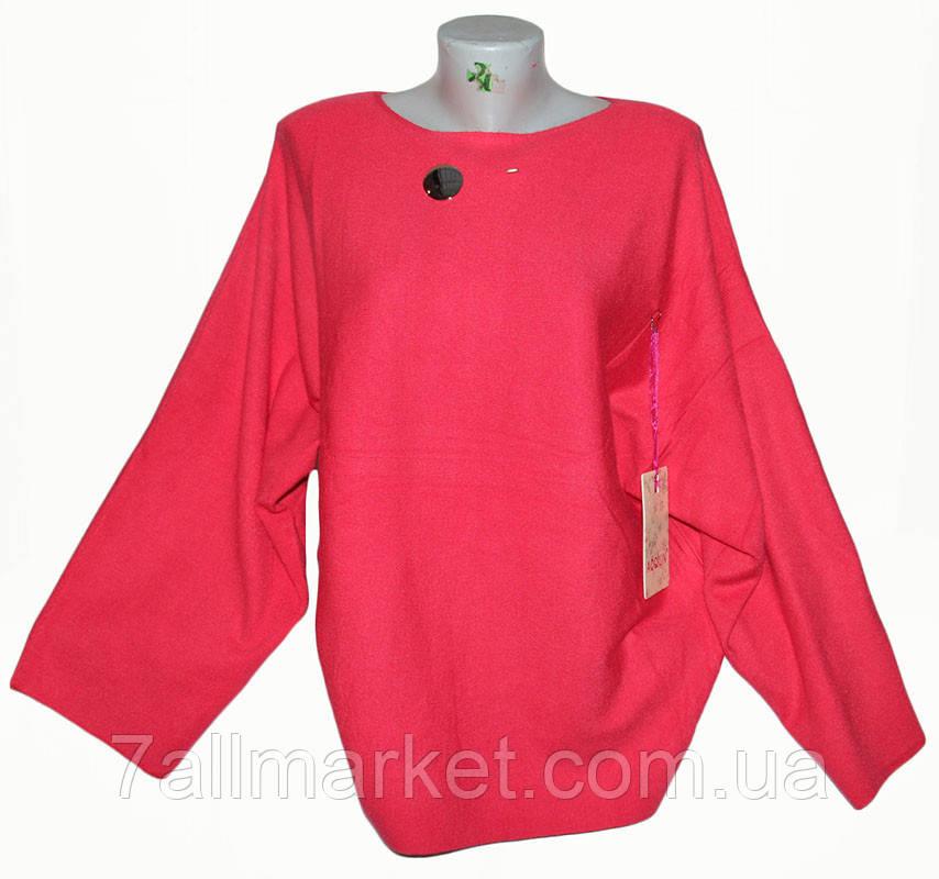 """Кофта женская с широкими рукавами размер 54-56 (4 цвета) """"ITALIA"""" купить оптом в Одессе на 7 км"""