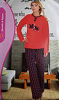 Пижама женская флисовая теплая