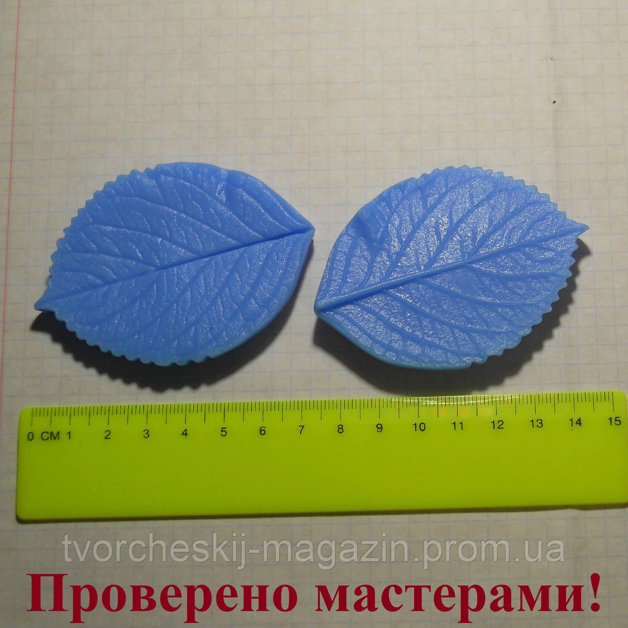 "Вайнер ""Лист розы L, большой"", 7.5х5.5 см"