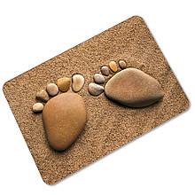 3D коврик «Следы» 45×75 см мокрый песок