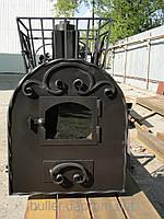 Дровяная печь каменка для бани Buller с выносной топкой со стеклом
