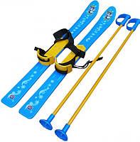 Лыжи детские с палками 3350