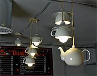 Светильники из фарфоровой посуды