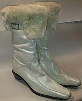 Сапоги женские зимние натуральная кожа р37 TOPAS 003 белые  VADD брак