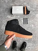 "Кроссовки Nike Air Force 1 High ""Black Suede Gum"" (аир форс, эир форсы)"