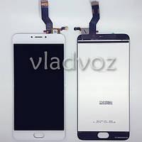 Дисплей модуль экран с сенсором для замены на Meizu M3 Note версия L681h LCD белый