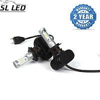 Установочный набор LED ламп в основные фонари SLP S1-LED Цоколь H7, 21W, 3250 Люмен/Комплект