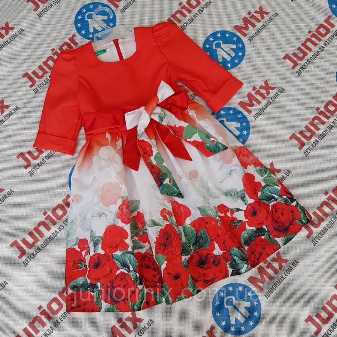 Нарядное детское платья для девочек  в цветы  Alamakota