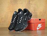 Мужские кроссовки Nike Air Max Tn+ 1 Black&white. Топ качество! Живое фото (аир макс тн, эир макс тн)