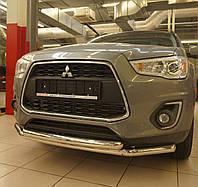 Кенгурятник двойной ус на Mitsubishi ASX (c 2010---) Can Otomotiv d60\60 mm PRS