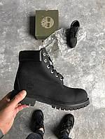 Зимние ботинки Timberland Classic 6 inch black (тимберленд ботинки)