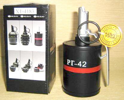 """Ручная граната """"РГ-42"""" - зажигалка-пепельница"""
