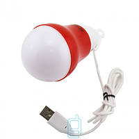 Лампочка LED BULB USB красная
