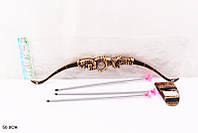 Лук и стрелы 026 (240шт/2) 3стрелы с присоск., колчан, в пакете 50см