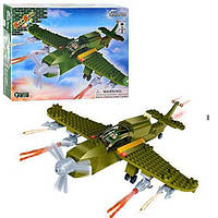 Конструктор BANBAO 8244 (18шт) военный самолет, 190 дет, фигурка, в кор-ке, 30-22,5-5см