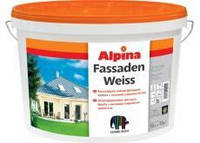 Белая дисперсионная фасадная краска ALPINA Fassadenweiss B1 10л Атмосфер
