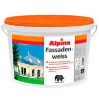 Атмосфер.-стойкая диспресионная краска ALPINA Fassadenweiss B3 9,4 л