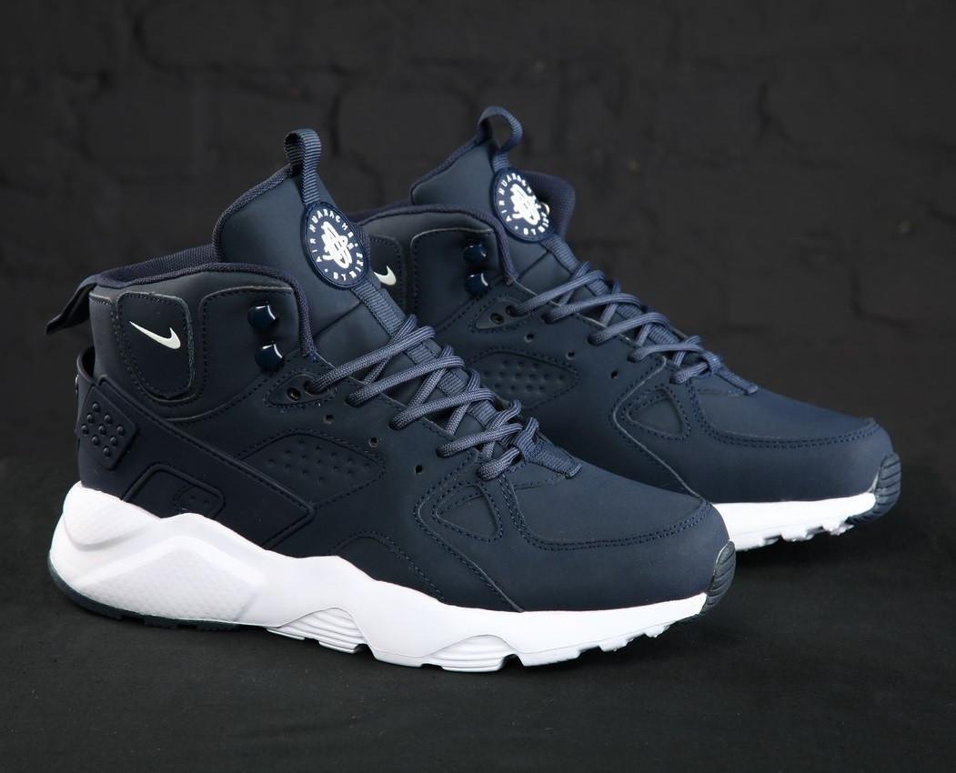 e05c3a1c Кроссовки в стиле Nike Huarache High Winter Blue/White мужские: фото ...