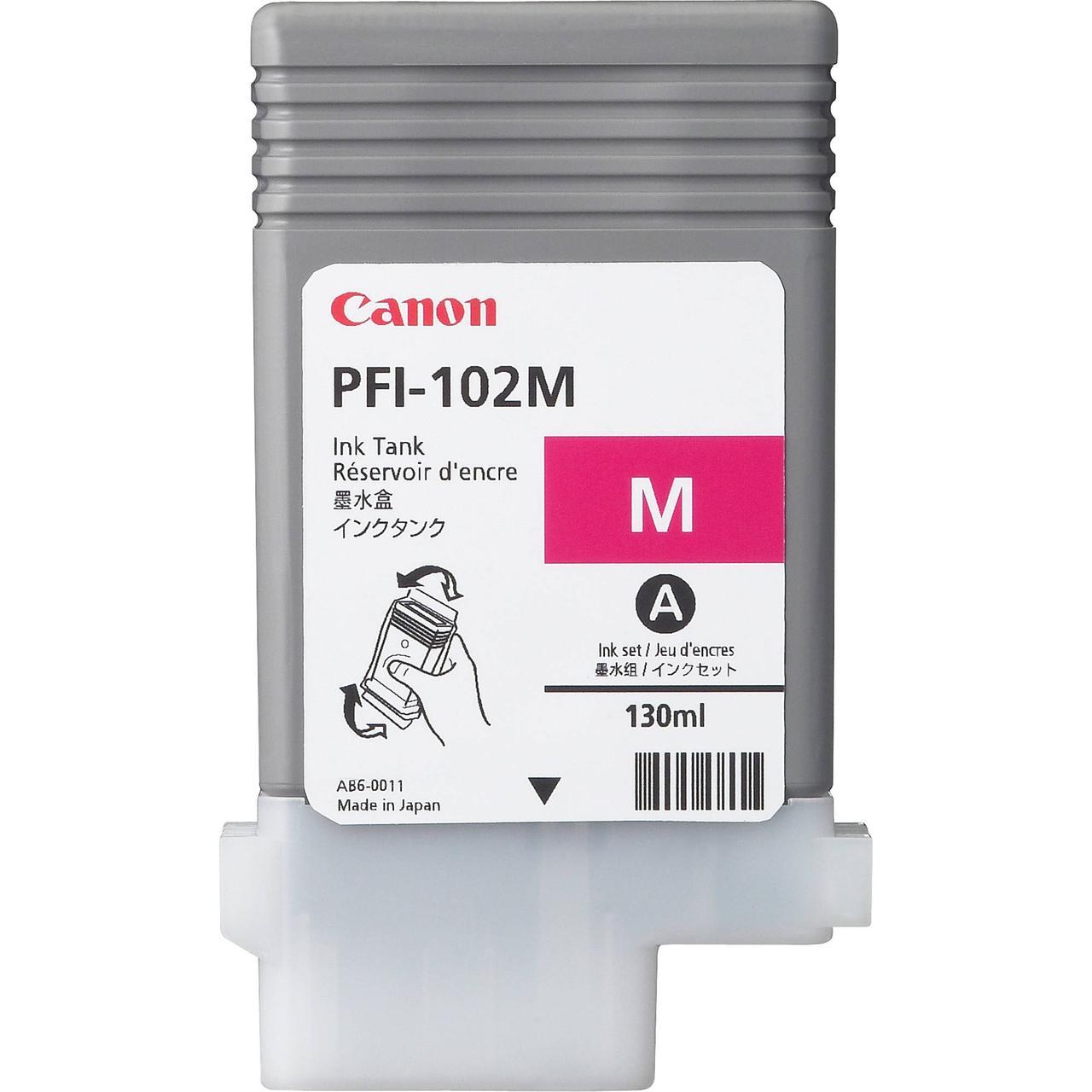 Картридж Canon PFI-102M для iPF600/700, Magenta, 130 мл