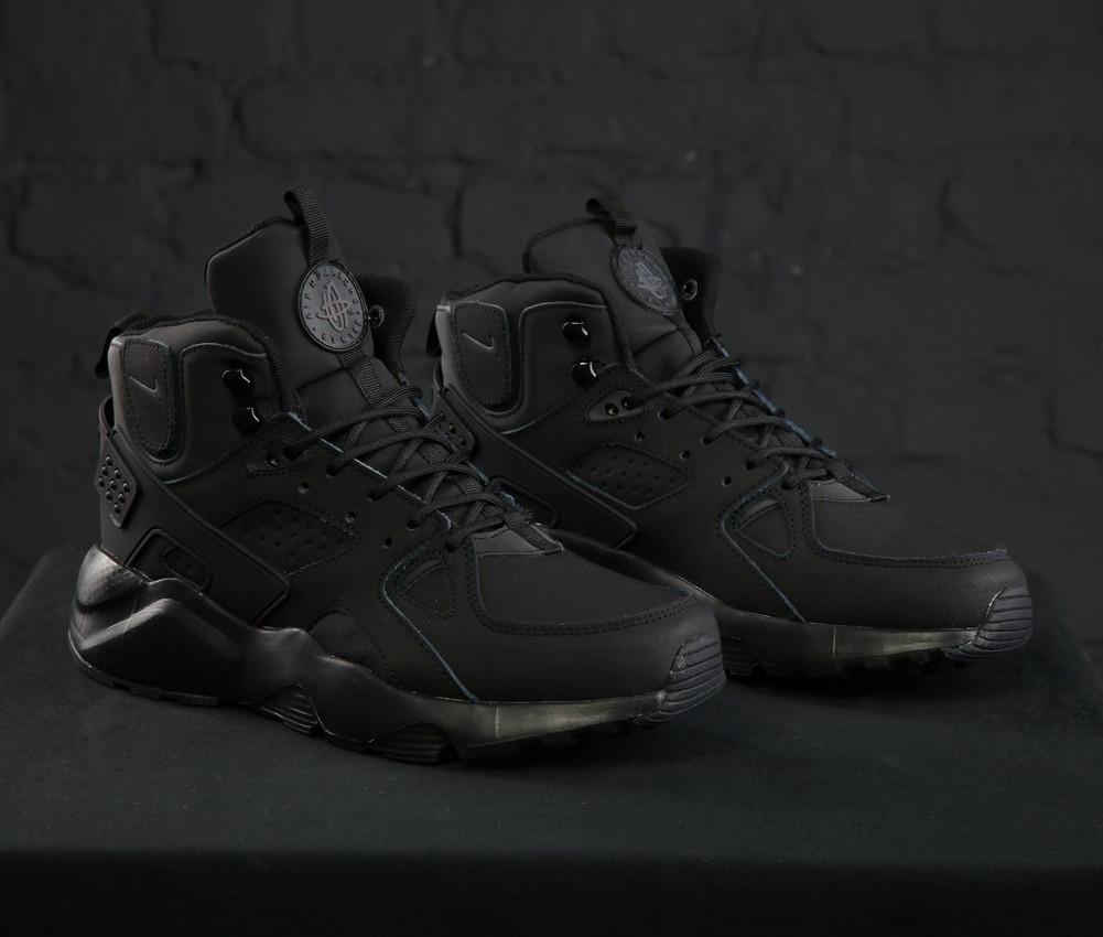 0e9b1205 Кроссовки в стиле Nike Huarache High Winter All Black мужские: фото ...