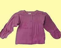 Кофточка для новорожденной, розовая трикотажная,р. 3-6 мес., 68 см
