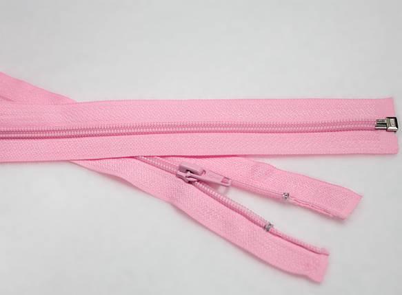 Молния (змейка) розовая разъемная (спиральная, №5, 80см), фото 2