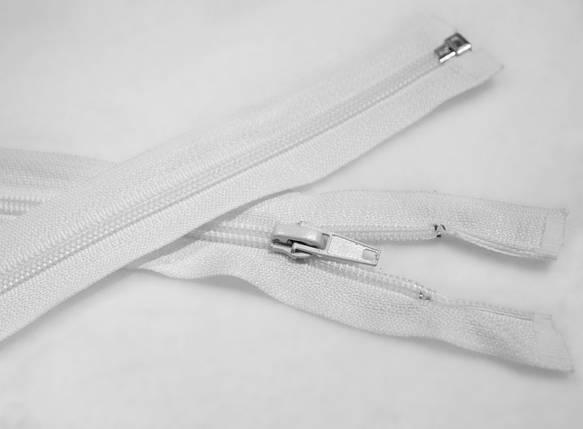 Молния (змейка) белая разъемная (спиральная, №5, 80см), фото 2