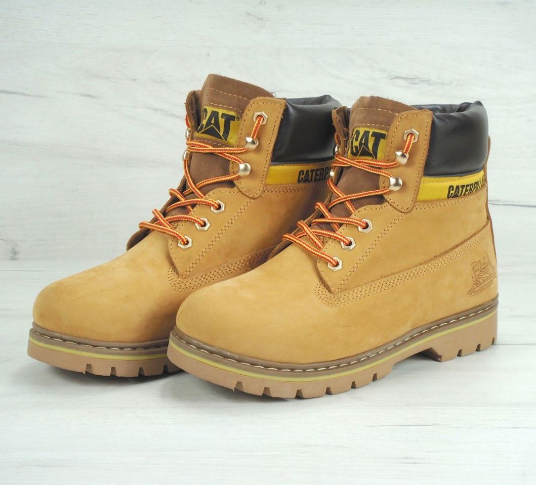 0e3d7e8cd Ботинки в стиле Caterpillar Colorado Fur Yellow зимние мужские: фото ...